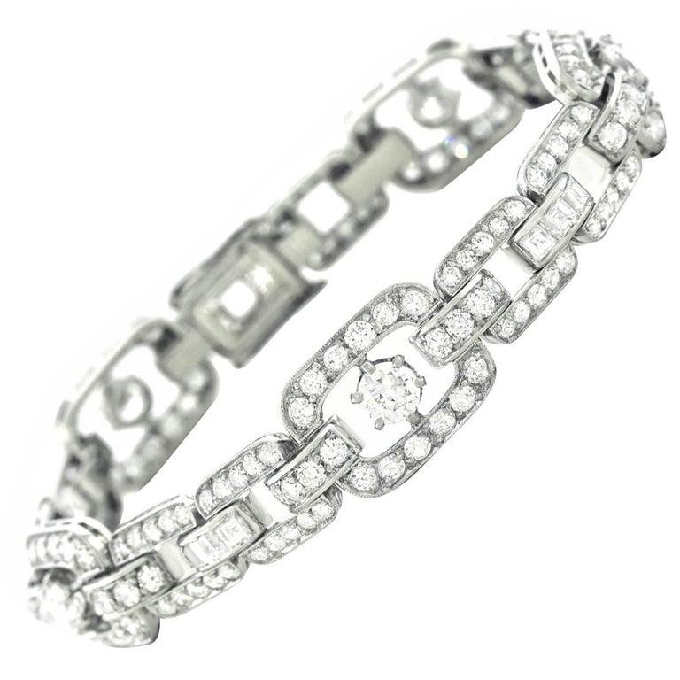 Art Deco Diamond Set Platinum Bracelet