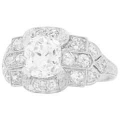 Art Deco Diamond-Set Platinum Ring