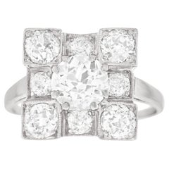 Art Deco Diamond Set Platinum Ring