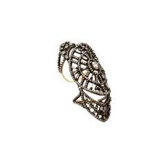 Art Deco Style Diamond Shield Ring