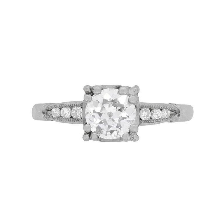 Art Deco Diamond Solitaire Ring, circa 1920s