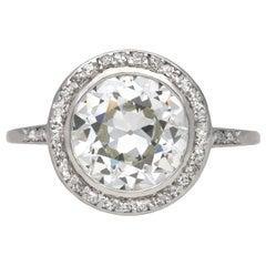 Art Deco Diamond Target Ring, circa 1920