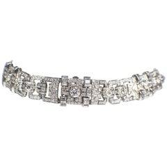 Art Deco Diamond Watch-Bracelet, Signed Birks