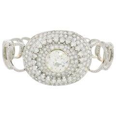 Art Deco Diamond White Gold Bracelet
