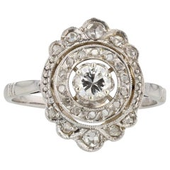 Art Deco Diamonds 18 Karat White Gold Ring