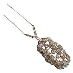 Art Deco Diamonds Brooch and Pendant