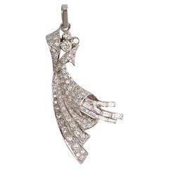 Art Deco Diamonds Platinum Pendant