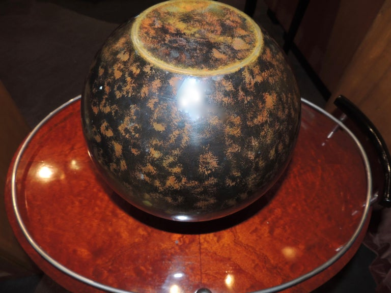 Art Deco Dinanderie Metal Vase In Good Condition For Sale In Oakland, CA