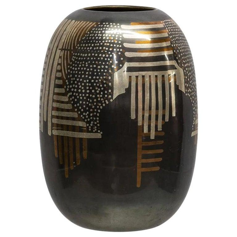 Art Deco Dinanderie Vase For Sale