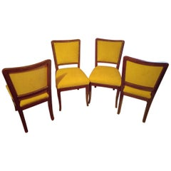 Art Deco Dining Chairs / Set of 4, circa 1930s