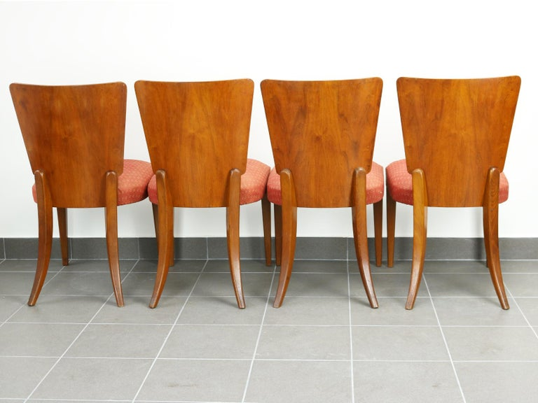 Art Deco Dining Chairs H-214 by Jindrich Halabala, 1930s In Good Condition For Sale In Lucenec, SK