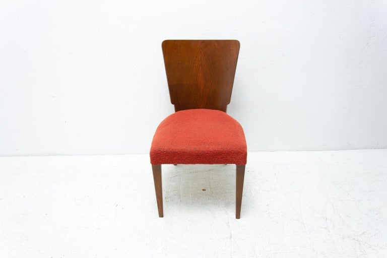 Art Deco Dining Chairs H-214 by Jindrich Halabala for ÚP Závody, 1950's For Sale 3
