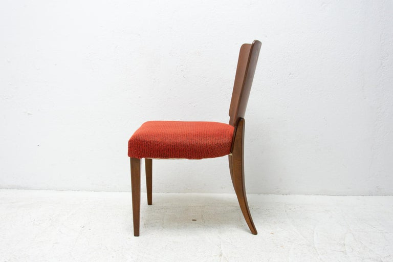 Art Deco Dining Chairs H-214 by Jindrich Halabala for ÚP Závody, 1950's For Sale 9