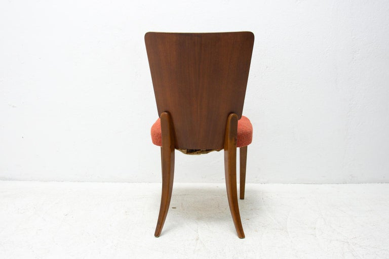 Art Deco Dining Chairs H-214 by Jindrich Halabala for ÚP Závody, 1950's For Sale 10