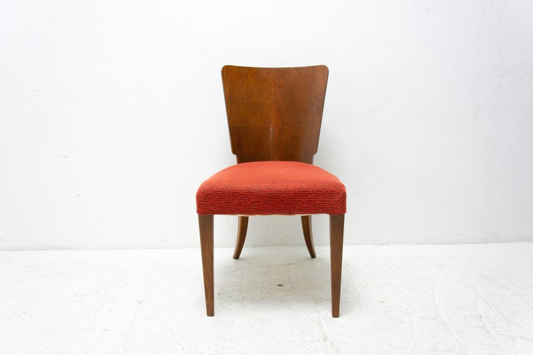Art Deco Dining Chairs H-214 by Jindrich Halabala for ÚP Závody, 1950's For Sale 2