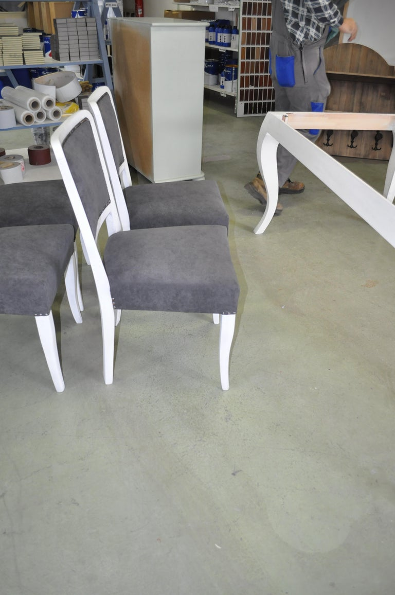 Hungarian Art Deco Dining Chairs, Set of 6 For Sale