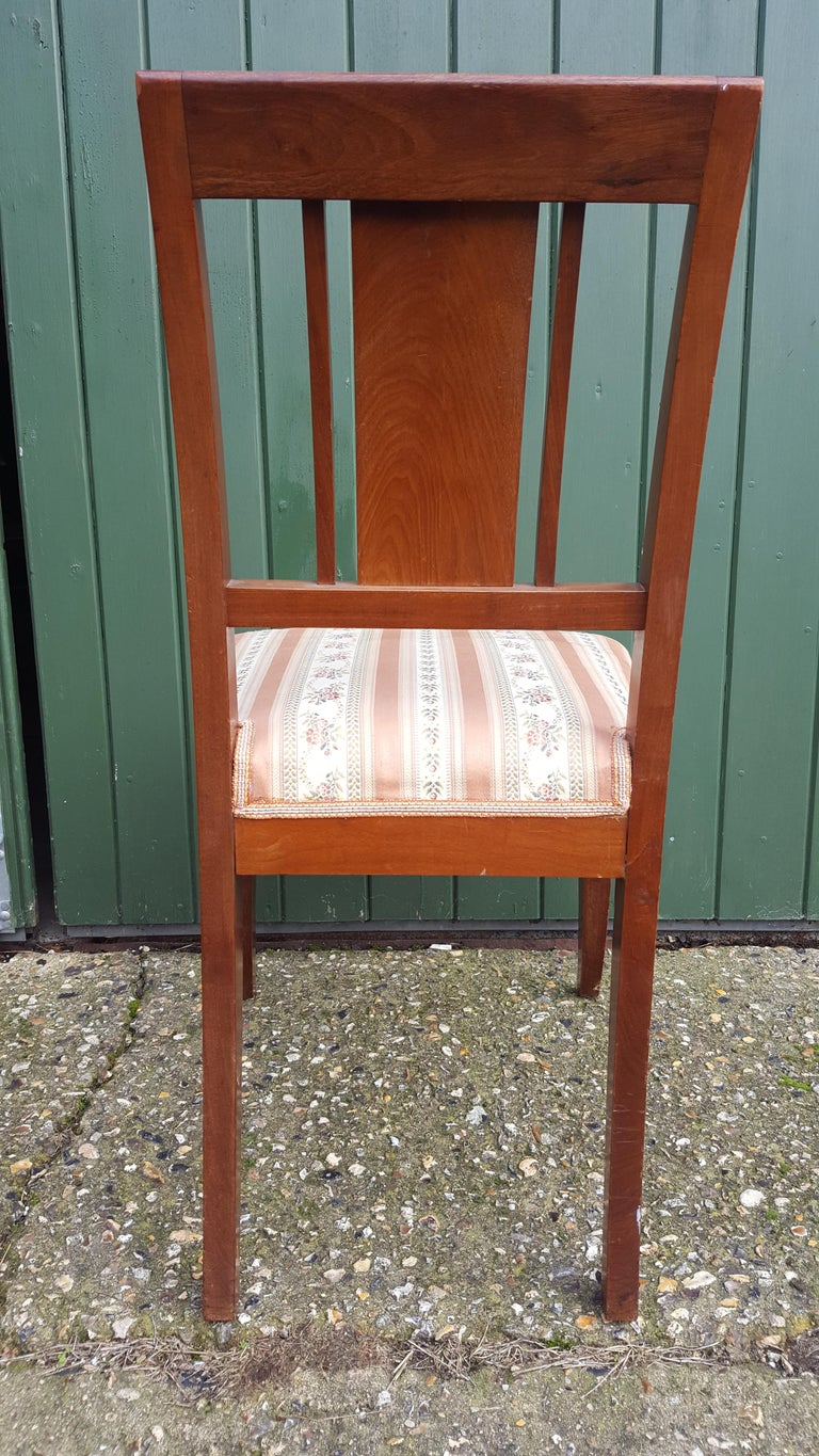 Art Deco Dining Chairs Set of 6 Marquetry Dark Honey Swedish Early 20th Century 2