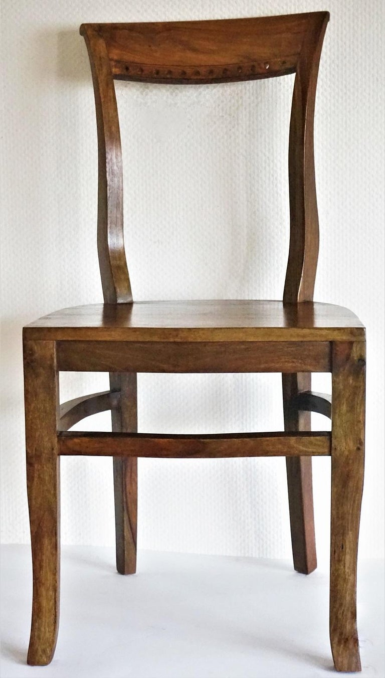 Art Deco Dining Chairs Solid Oak, Set of Four In Good Condition For Sale In Frankfurt am Main, DE