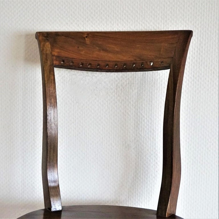 20th Century Art Deco Dining Chairs Solid Oak, Set of Four For Sale