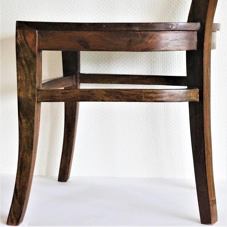 Art Deco Dining Chairs Solid Oak, Set of Four For Sale 1
