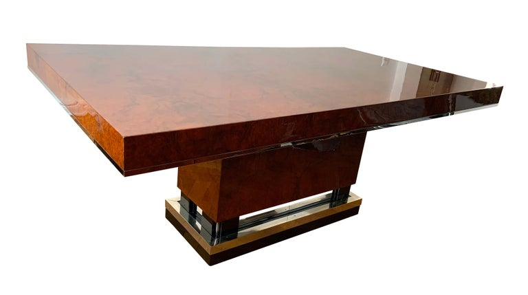 Very fine Art Deco dining room table from Southern France, circa 1930.