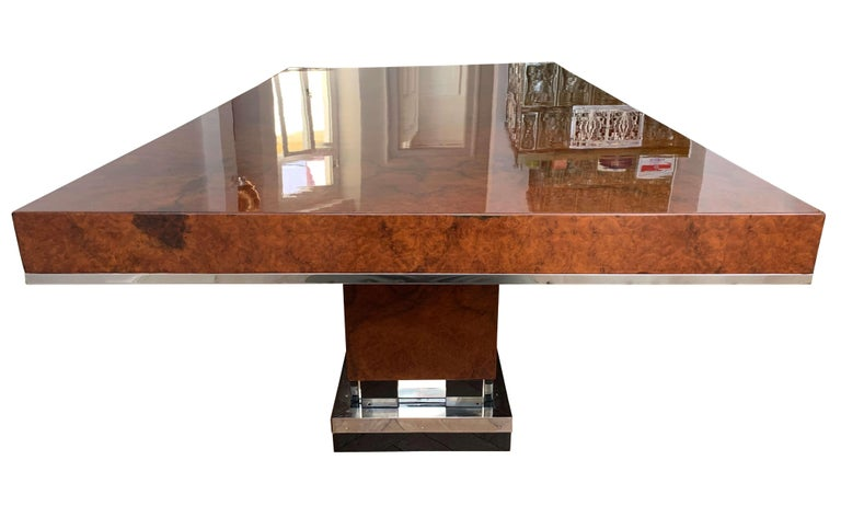 Art Deco Dining Room Table, Walnut Roots, Southern France, circa 1930 In Good Condition For Sale In Regensburg, DE