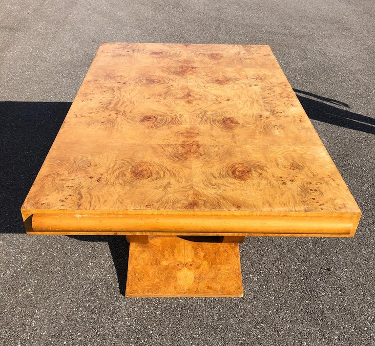 Art Deco Dining Set in Burl Wood For Sale 8