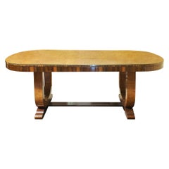 Art Deco Dining Table 8-Seat with Hoop Base