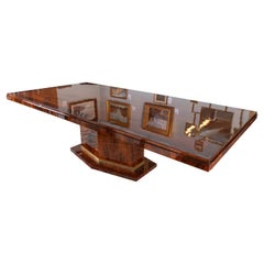 Art Deco Dining Table in Walnut from France