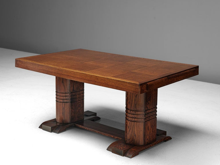 French Art Deco Dining Table with Inlayed Top For Sale
