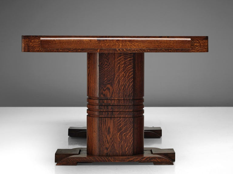 Art Deco Dining Table with Inlayed Top For Sale 1