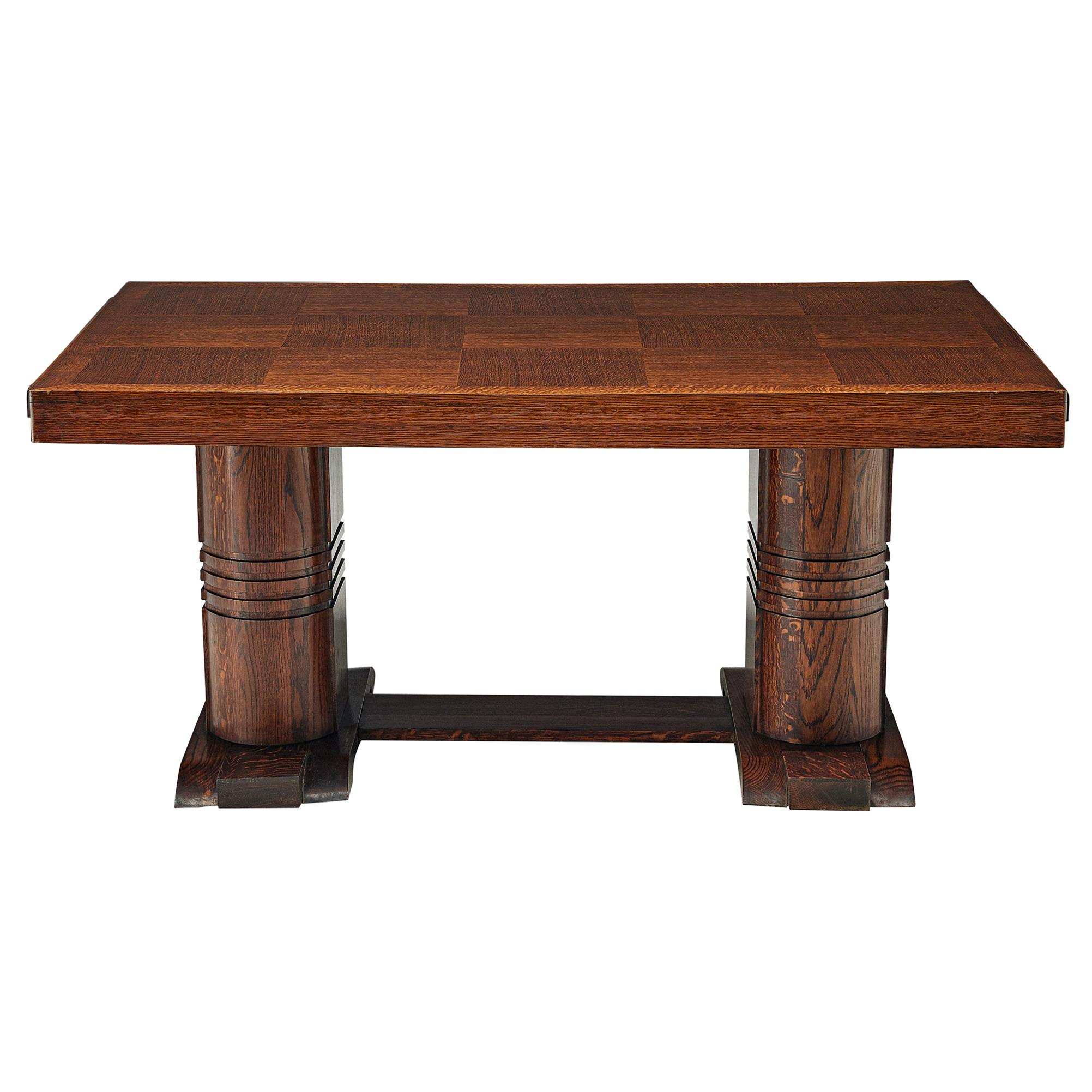 Art Deco Dining Table with Inlayed Top