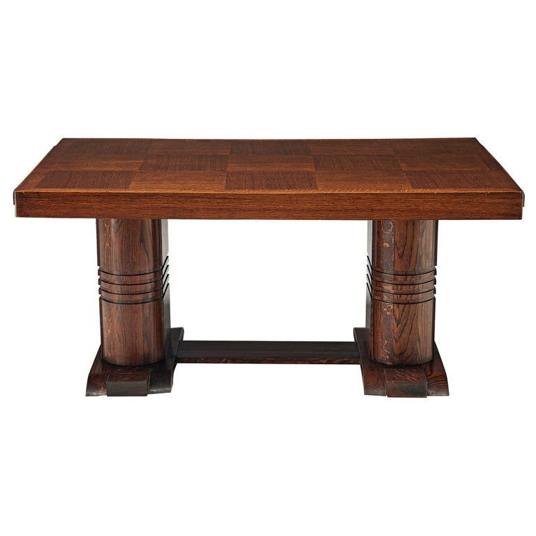Art Deco Dining Table with Inlayed Top For Sale