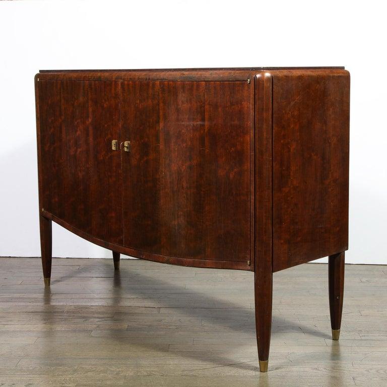 Signed Jules Leleu Art Deco Burled Acacia Cabinet w/ Bronze Fittings For Sale 6