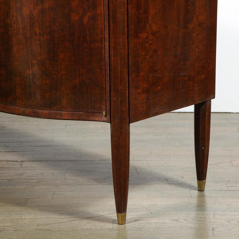 Signed Jules Leleu Art Deco Burled Acacia Cabinet w/ Bronze Fittings For Sale 7