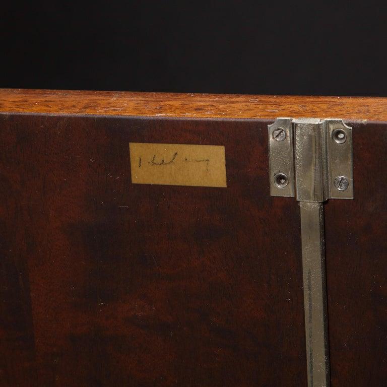 Signed Jules Leleu Art Deco Burled Acacia Cabinet w/ Bronze Fittings For Sale 9