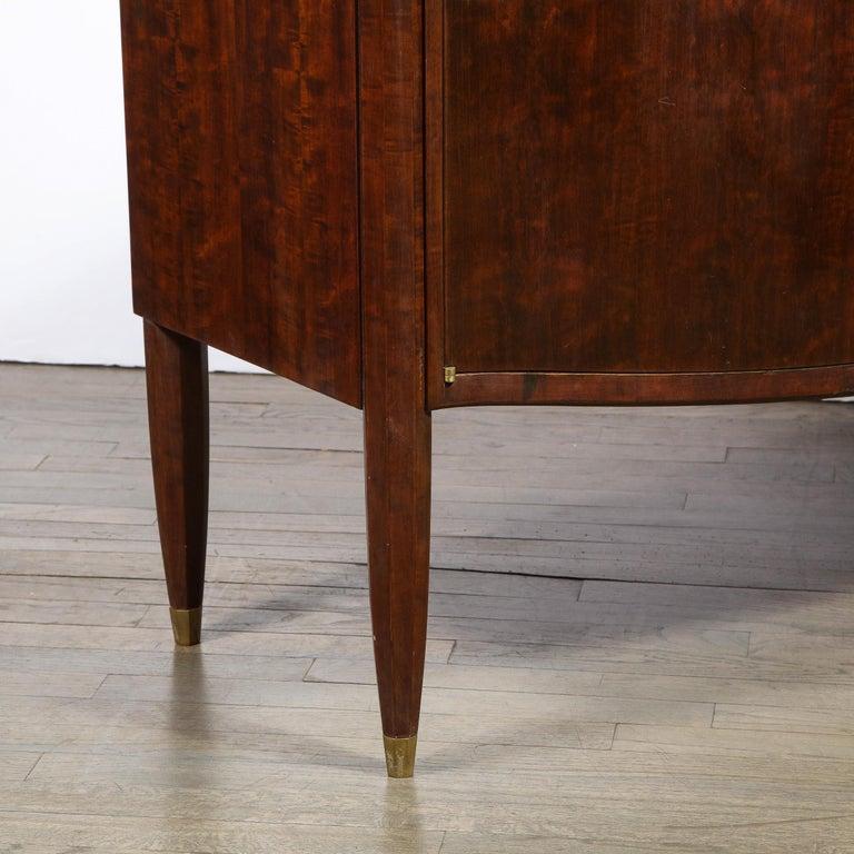 Signed Jules Leleu Art Deco Burled Acacia Cabinet w/ Bronze Fittings For Sale 2