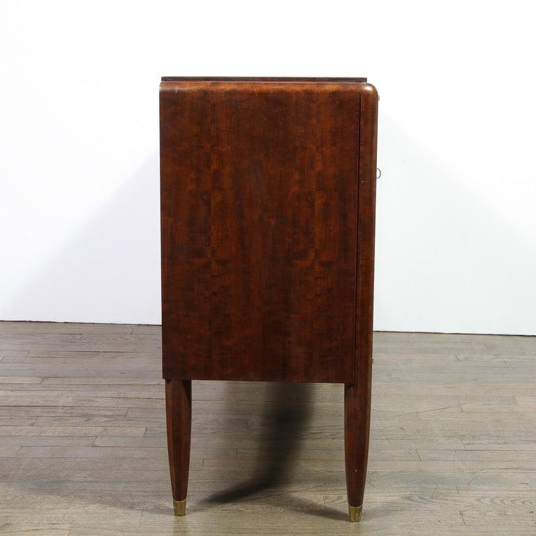 Signed Jules Leleu Art Deco Burled Acacia Cabinet w/ Bronze Fittings For Sale 4