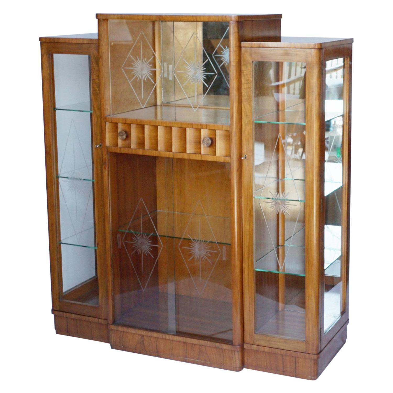 Art Deco Display Cabinet English, Circa 1935