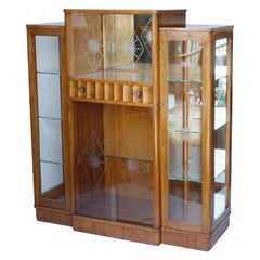 Art Deco Display Cabinet English, Circa 1935