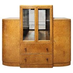 Art Deco Display Cabinet in Burr Walnut