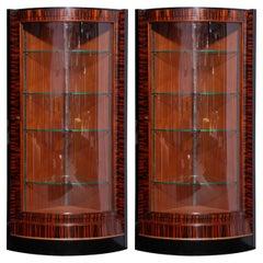 Art Deco Display Cabinets or Vitrines