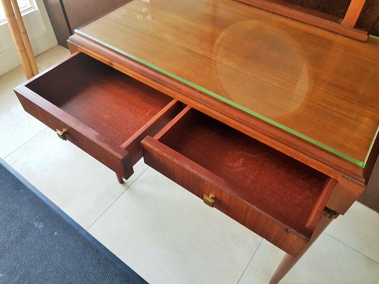 Art Deco Dresser Vanity Desk Signed by Majorelle, France, 1938 For Sale 6