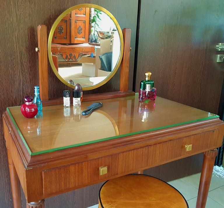 Art Deco Dresser Vanity Desk Signed by Majorelle, France, 1938 For Sale 7