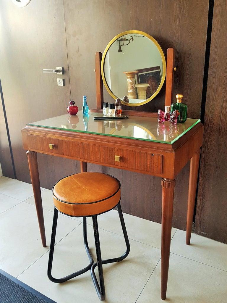Art Deco Dresser Vanity Desk Signed by Majorelle, France, 1938 For Sale 8