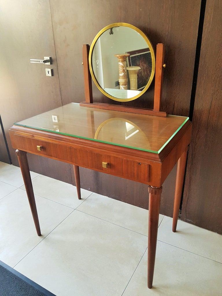 Art Deco Dresser Vanity Desk Signed by Majorelle, France, 1938 For Sale 12