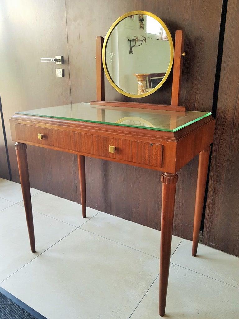 Art Deco Dresser Vanity Desk Signed by Majorelle, France, 1938 For Sale 13
