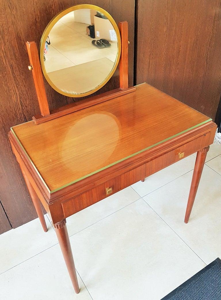 Art Deco Dresser Vanity Desk Signed by Majorelle, France, 1938 For Sale 1