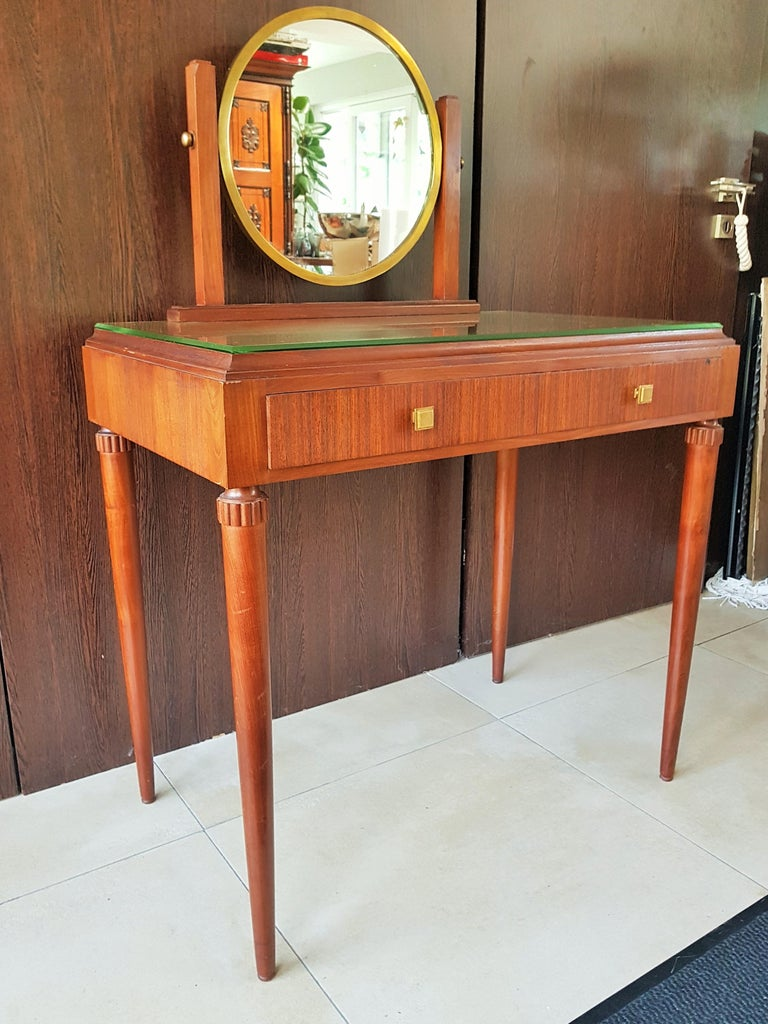 Art Deco Dresser Vanity Desk Signed by Majorelle, France, 1938 For Sale 2