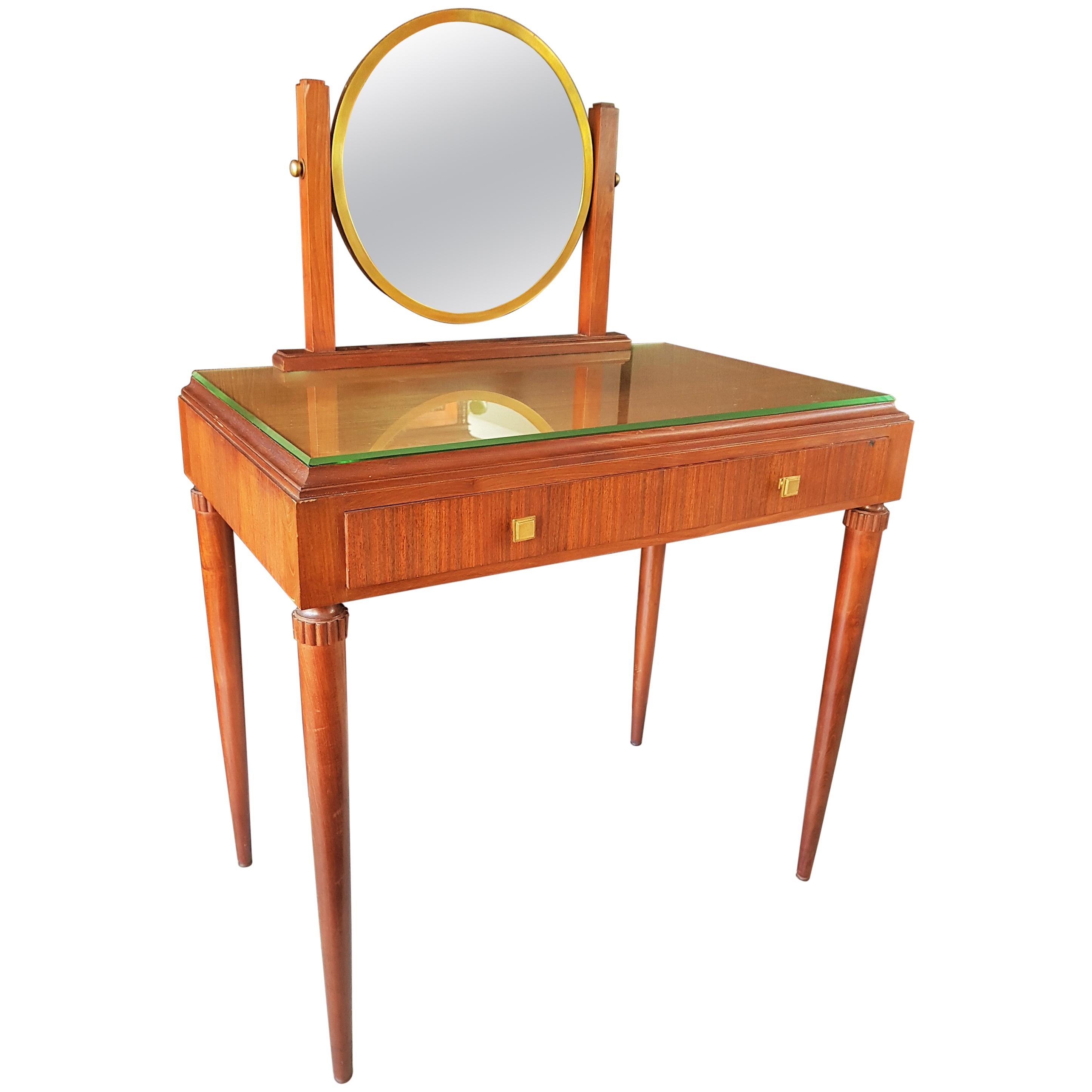 Art Deco Dresser Vanity Desk Signed by Majorelle, France, 1938